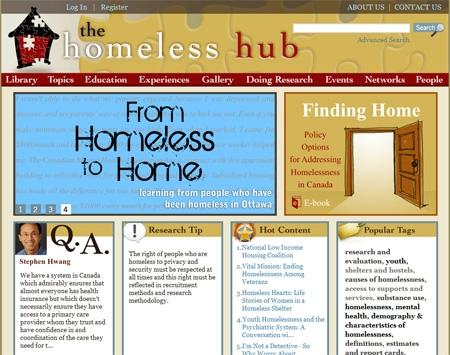New Homeless Hub Web Site