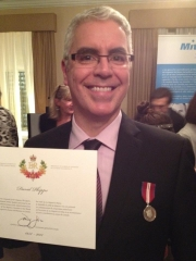 David Phipps at the Diamond Jubilee ceremony