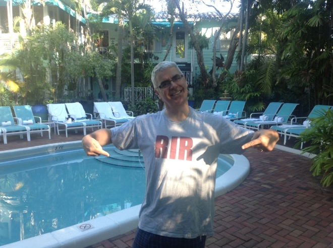 David showing off his ResearchImpact T Shirt in Ft. Lauderdale
