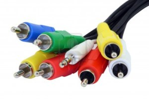 A variety of cables and connectors