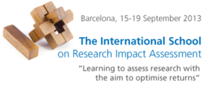 Logo for The International School on Research Impact Assessment