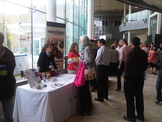 ResearchImpact booth at CU Expo 2013