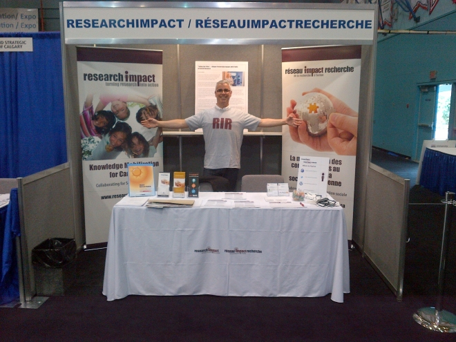 David Phipps at the ResearchImpact booth at Congress in Victoria, BC