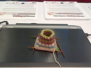 Picture of knitted sock